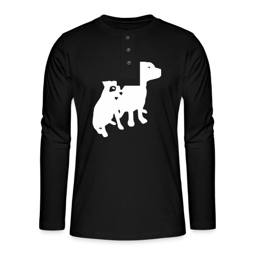 Doggy / zwei brave Hunde zum verschenken - Henley Langarmshirt