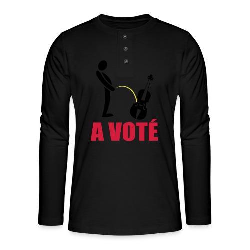 A voté - T-shirt manches longues Henley
