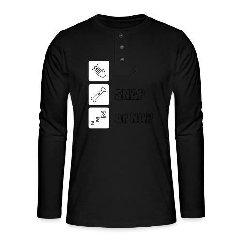 tap snap or nap - Koszulka henley z długim rękawem