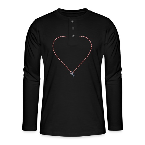 Coeur à découper - T-shirt manches longues Henley