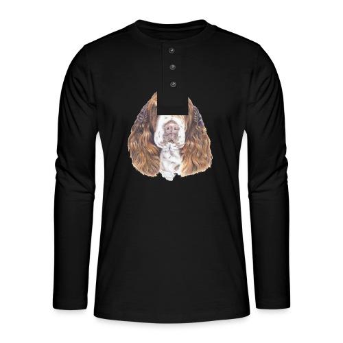 engelsk Springer Spaniel - Henley T-shirt med lange ærmer