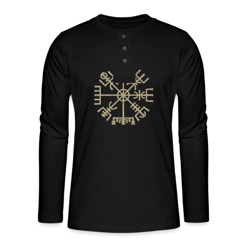 Vegvisir-The-Runic-Viking or - T-shirt manches longues Henley