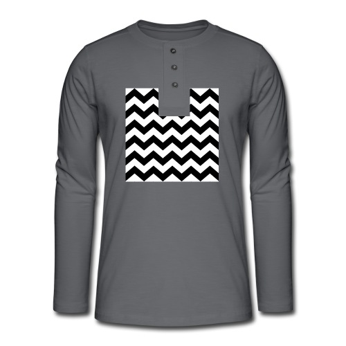 zigzag png - T-shirt manches longues Henley