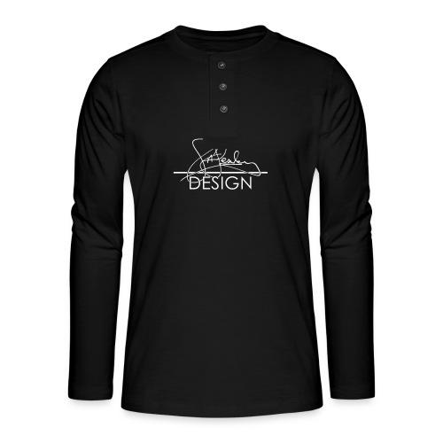 sasealey design logo wht png - Henley long-sleeved shirt