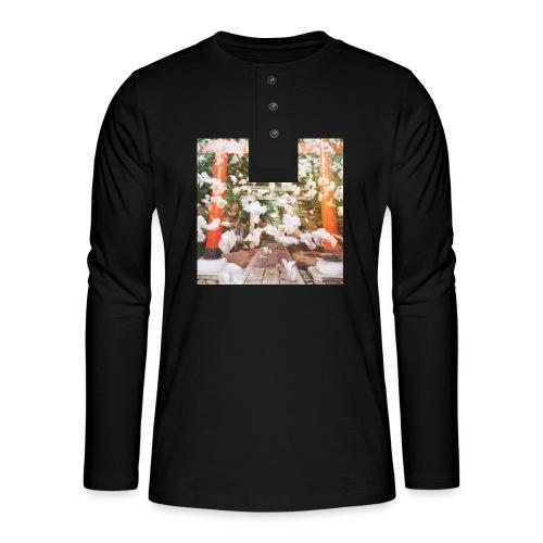 見ぬが花 Imagination is more beautiful than vi - Henley long-sleeved shirt