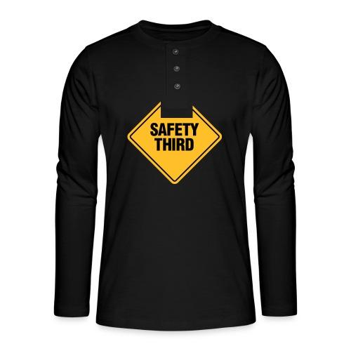 SAFETY THIRD - Henley long-sleeved shirt