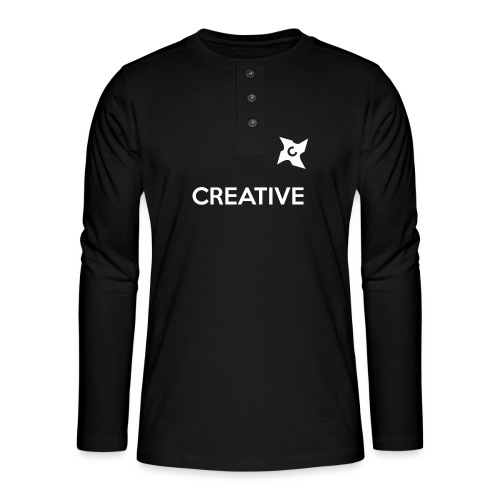 Creative long urban shirt - Henley T-shirt med lange ærmer