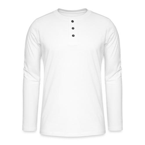 Creative simple black and white shirt - Henley T-shirt med lange ærmer