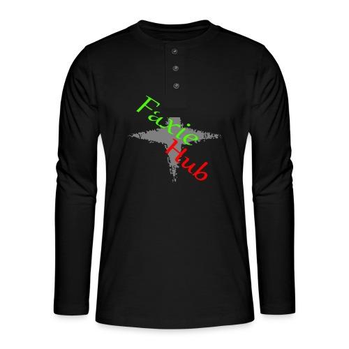 FaxieHub - Henley T-shirt med lange ærmer