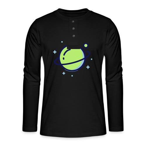 Space Earth - Henley shirt met lange mouwen