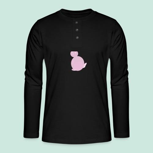 Pink Bunny - Henley long-sleeved shirt