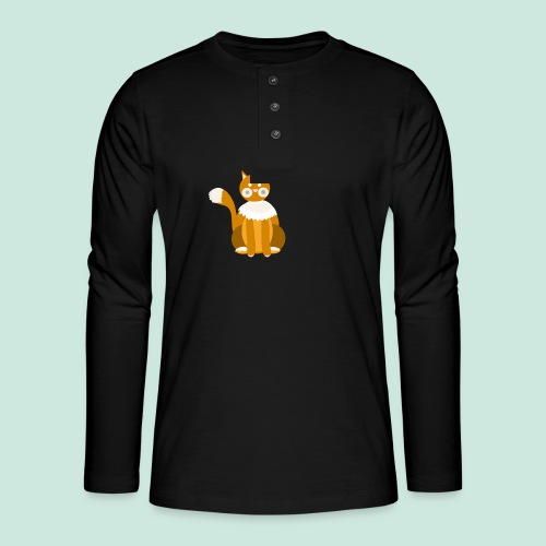 Kitty cat - Henley long-sleeved shirt