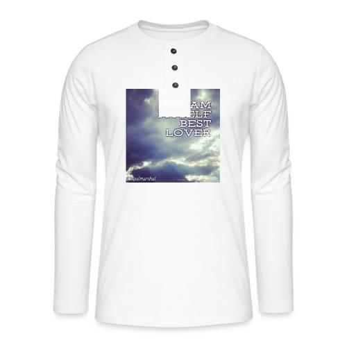 I Am Myself best Lover - Henley pitkähihainen paita