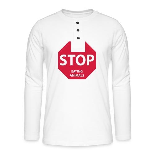 Stop-Eating-Animals - Henley Langarmshirt