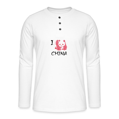 I Love China - Henley long-sleeved shirt