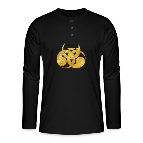 Tadpole Mon Japanese samurai clan - Henley long-sleeved shirt