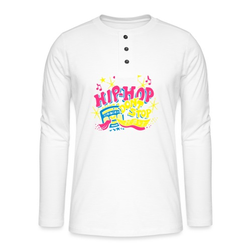 hiphop_style - Henley Langarmshirt