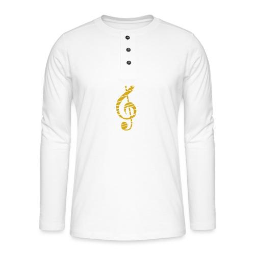 Goldenes Musik Schlüssel Symbol Chopped Up - Henley long-sleeved shirt