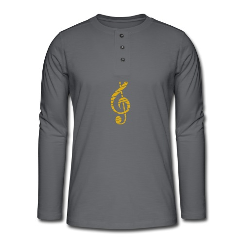 Goldenes Musik Schlüssel Symbol Chopped Up - Henley long-sleeved shirt