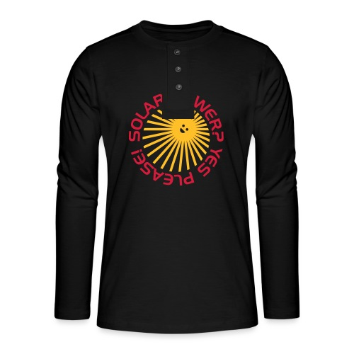 BD Solar Power - Henley Langarmshirt