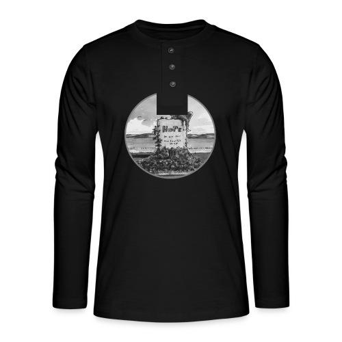 Hoffnung auf gutes Geleit - Henley Langarmshirt