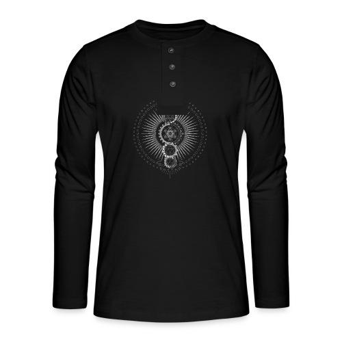 Sacred Geometry Metatron's Cube Transcendence - Henley long-sleeved shirt