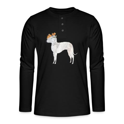 bedlington with flower - Henley T-shirt med lange ærmer