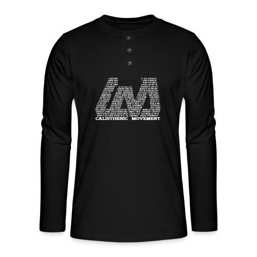 CM Logo aus Text weiß - Henley Langarmshirt