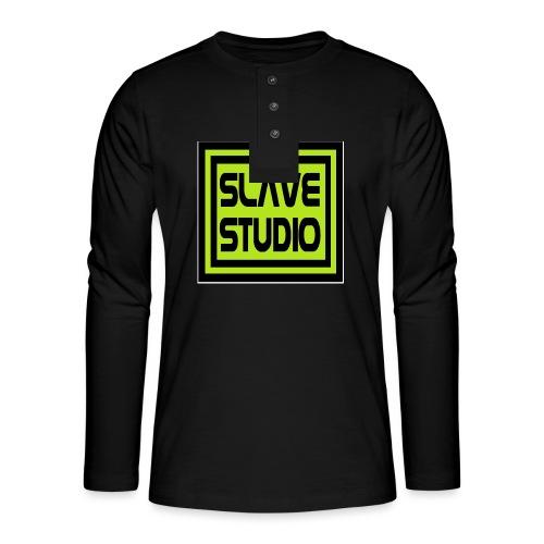 Slave Studio logo - Maglia a manica lunga Henley