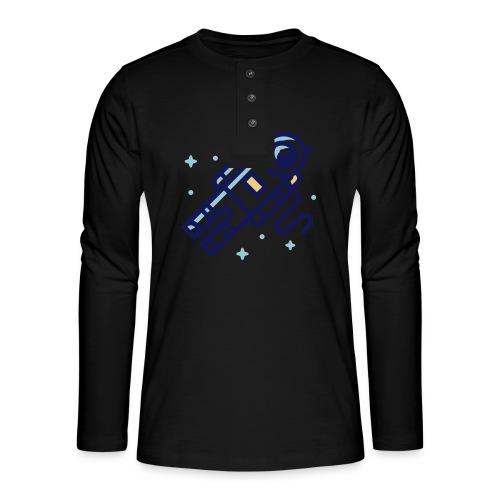 Space Astrounaut - Henley shirt met lange mouwen