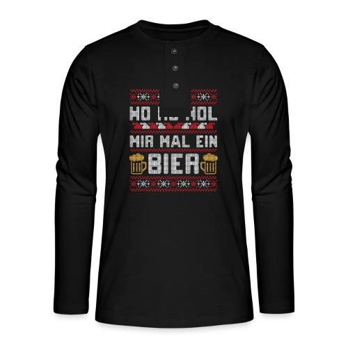 Ho Ho Hol mir mal ein Bier | lustiger Gerstensaft - Henley Langarmshirt