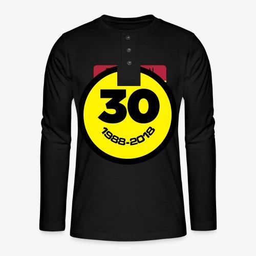 30 Jaar Belgian New Beat Smiley - Henley shirt met lange mouwen