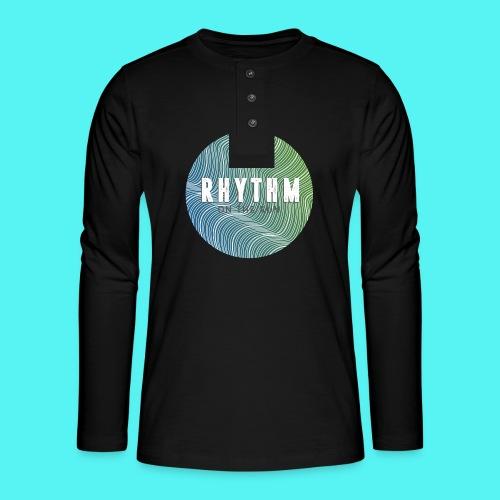 Rhythm On The Run Logo - Henley long-sleeved shirt