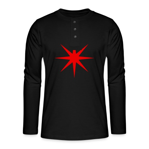 Roter Stern - Henley Langarmshirt
