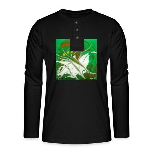TIAN GREEN Mosaik CG002 - quaKI - Henley Langarmshirt