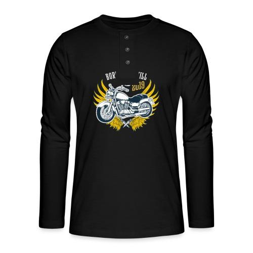 Motorcycle4 - Camiseta panadera de manga larga Henley
