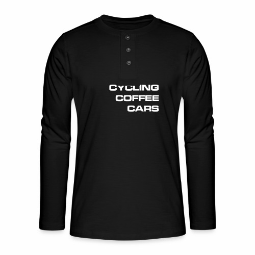 Cycling Cars & Coffee - Henley long-sleeved shirt