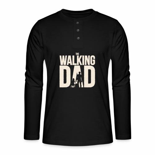 The walking Dad - Design für die besten Väter - Henley Langarmshirt