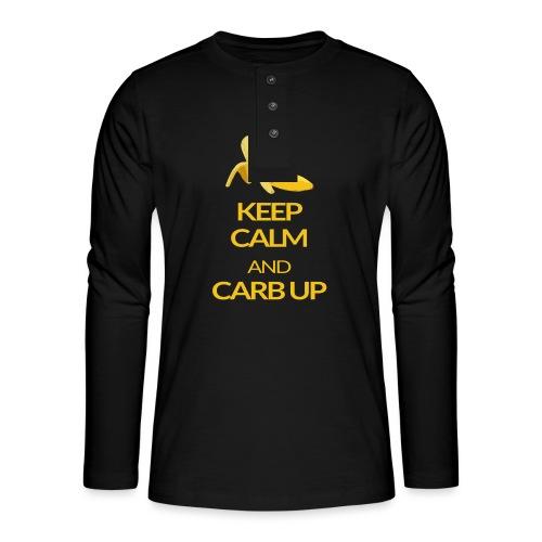 KEEP CALM and CARB UP - Henley Langarmshirt