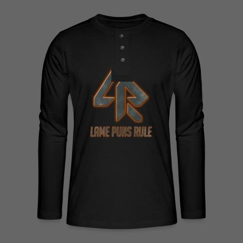 Lame Puns Rule: Logo - Henley long-sleeved shirt