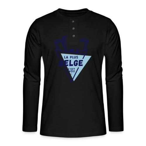 La+Belge - T-shirt manches longues Henley