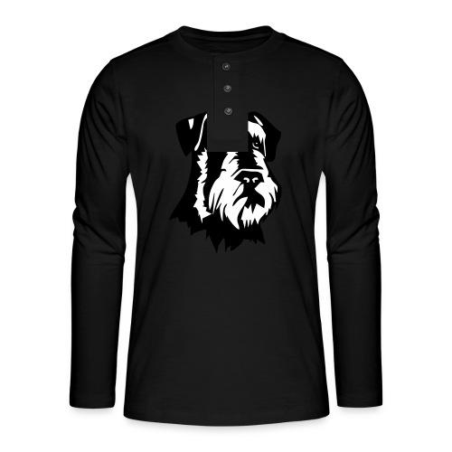 Riesensnautzer head - Henley pitkähihainen paita