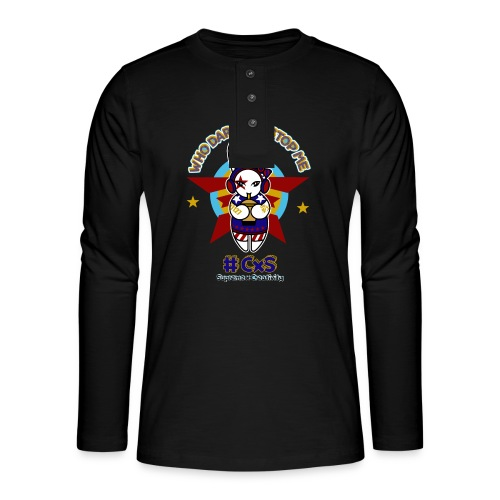 Zhan - T-shirt manches longues Henley