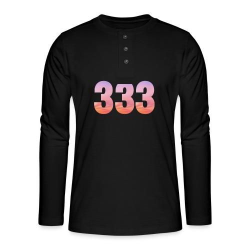 333 vous étes entouré de maitres ascensionnés - T-shirt manches longues Henley