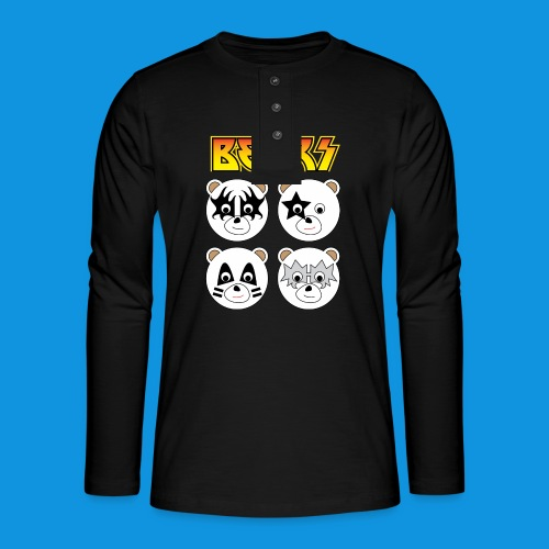 Kiss Bears square.png - Henley long-sleeved shirt