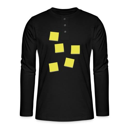 Post-Its - Henley shirt met lange mouwen
