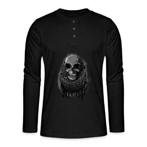 Skull in Chains - Henley long-sleeved shirt