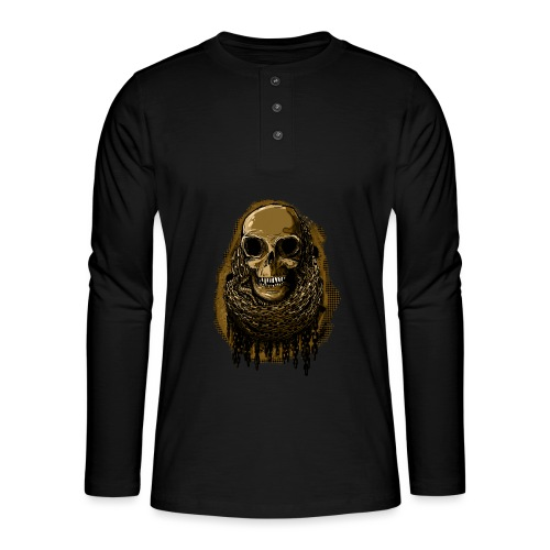 Skull in Chains YeOllo - Henley long-sleeved shirt