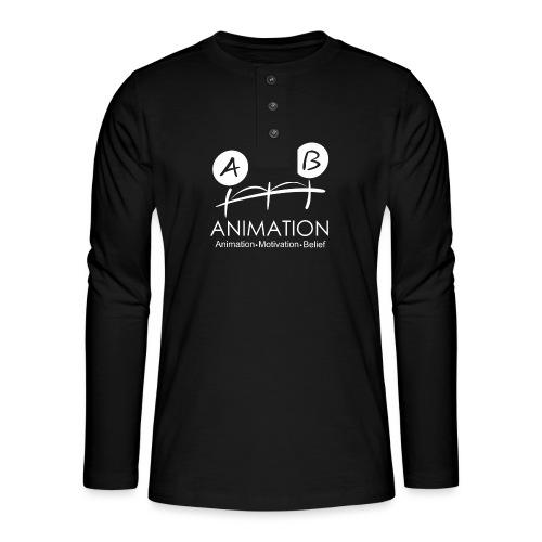 AMB Logo Animation Motivation Belief - Henley long-sleeved shirt