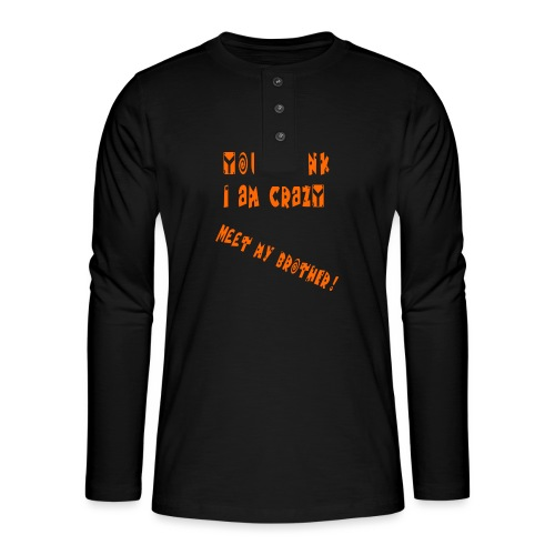 Crazy Brother - Henley pitkähihainen paita
